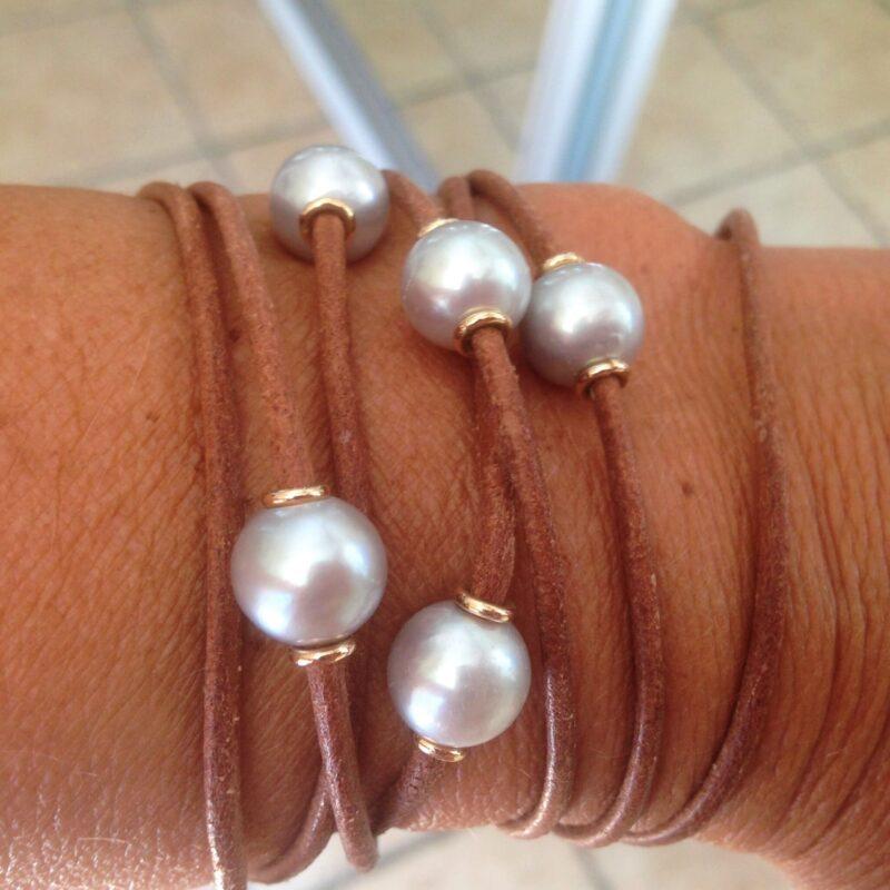 Tahiti Perle Armbånd m. 14 Karat Guld Charlotts Diamonds