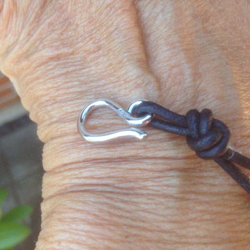 Håndlavet Tahiti Perle Armbånd m. 14 Karat Hvidguld Lås.