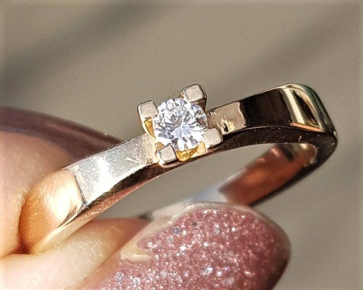 Toftegaard Wesselton Dream Diamond Solitaire Diamant Ring på 0,08 carat i 14 Karat Guld.