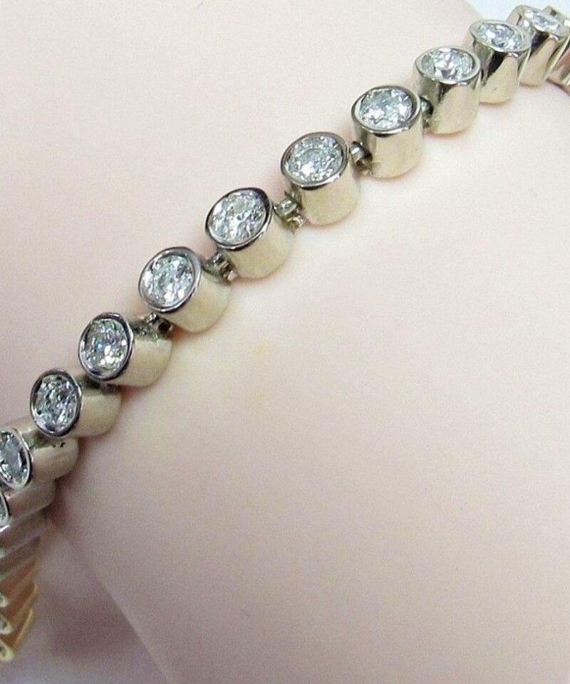 Tennis Diamant Armlænke i 14 Karat Guld og Hvidguld m. i alt 1,25 carat.