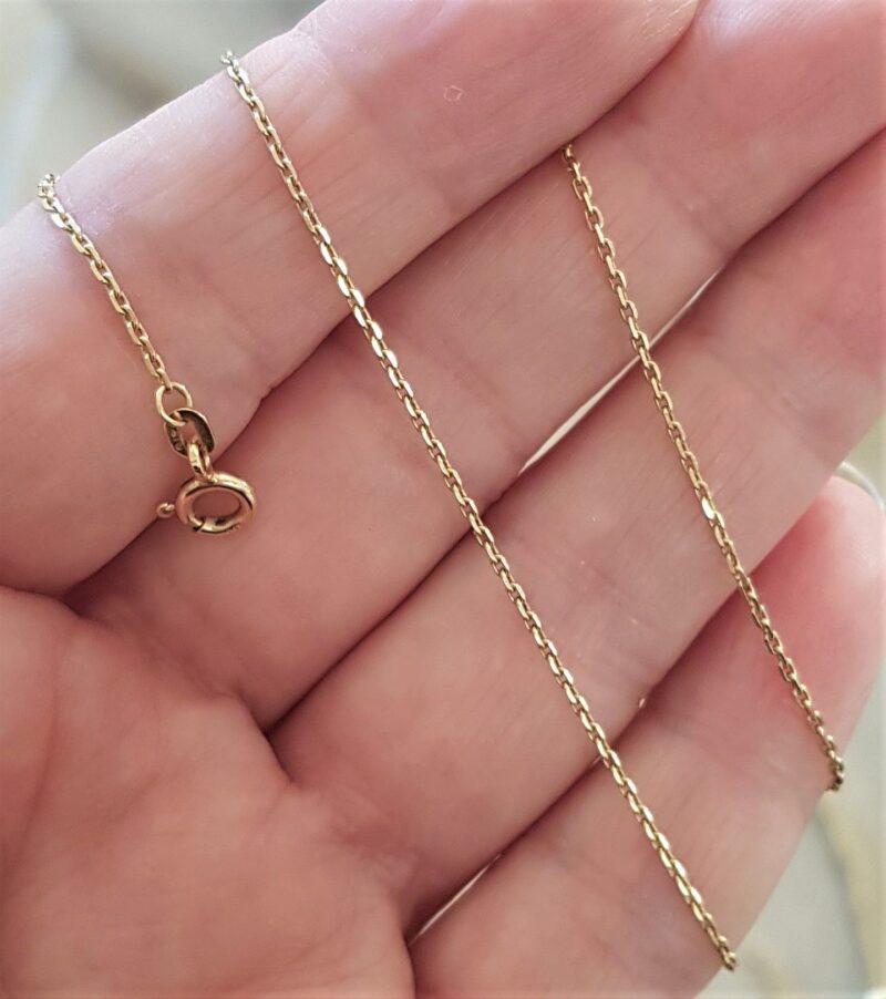 Anker Halskæde på 38 cm. og 2,1 g. i 14 Karat Guld.