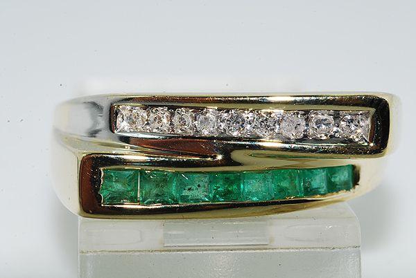 Rubin/Diamant Ring i Guld/Hvidguld.