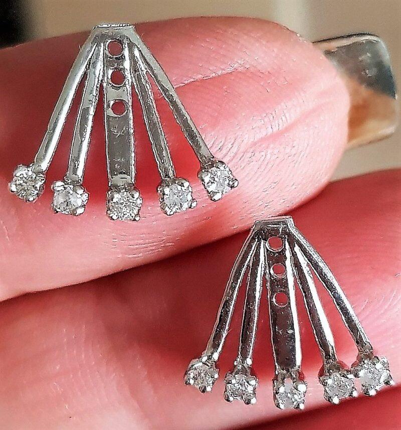 """"""" Jackets """" til Påsætning af Solitaire Øreringe m. i alt 0,30 carat Diamanter."""
