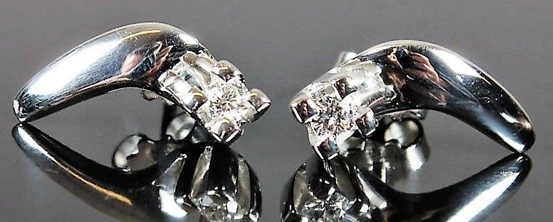 Diamant Øreringe i Hvidguld fra Jan Jørgensen
