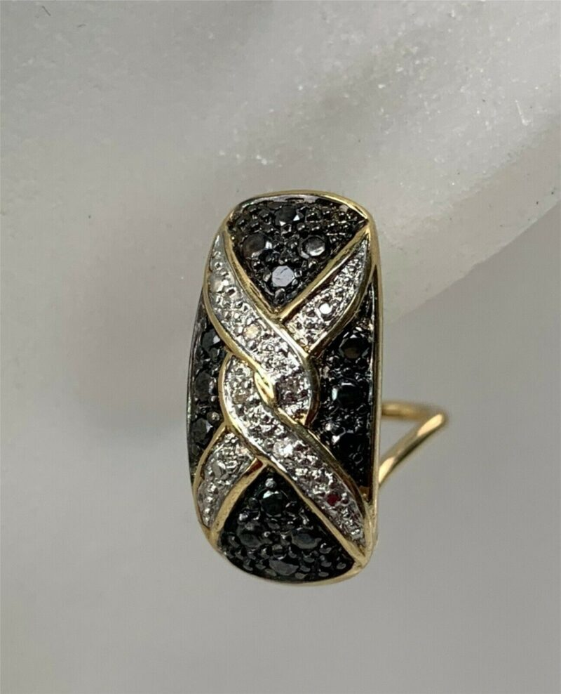 Sort/Hvide diamantøreringe