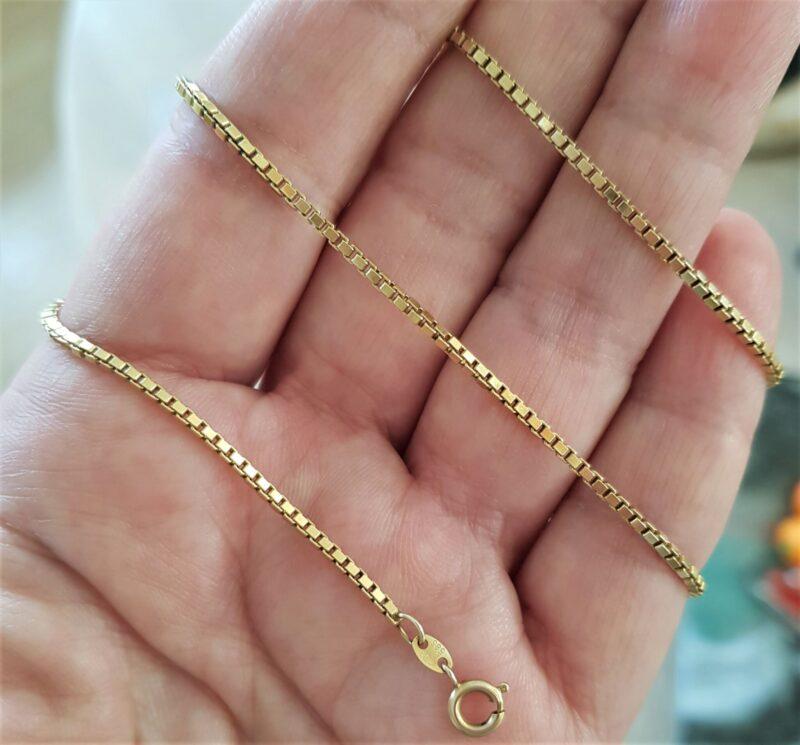 Kraftig Venezia Halskæde på 9,65 g. i 14 Karat Guld.